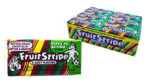 Fruit Stripe Gum Regular 17 Stick or 12 Count Box
