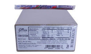 Gilliam .5oz Candy Sticks Bubblegum 80 Count Box