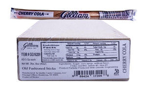 Gilliam .5oz Candy Sticks Cherry Cola 80 Count Box