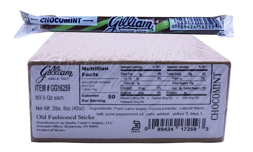 Gilliam .5oz Candy Sticks ChocoMint 80 Count