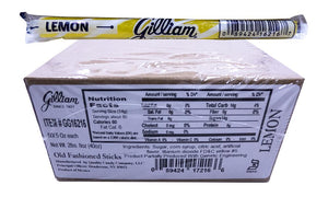 Gilliam .5oz Candy Sticks Lemon 80 Count Box