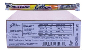 Gilliam .5oz Candy Sticks Peaches and Cream 80 Count Box