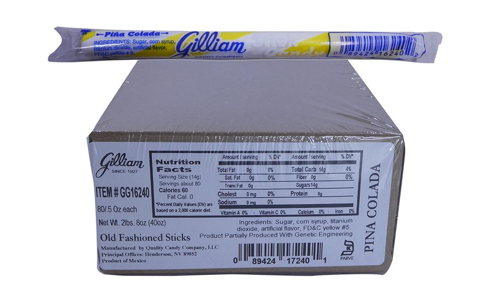 Gilliam .5oz Candy Sticks Pina Colada 80 Count Box