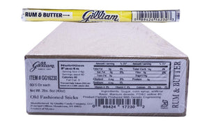 Gilliam .5oz Candy Sticks Rum and Butter 80 Count Box