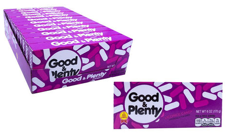 Good and Plenty 6oz Theater Box or 12 Count Case