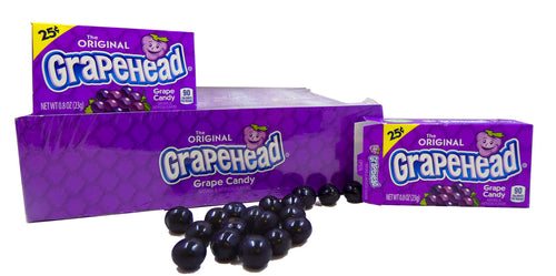 Grapeheads .8oz Box 24 Count Pack