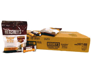 Hershey's Sugar Free Chocolate Caramel 3oz Bag or 12 Count Box