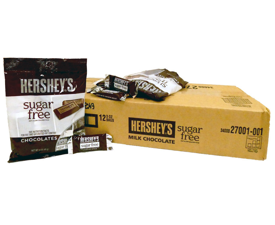 Hershey's Sugar Free 3 oz Bag Milk Chocolate Miniatures 12 Count Box