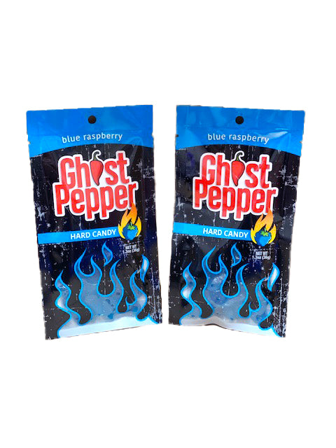 Ghost Pepper Hard Candy 1.3oz Bag Blue Raspberry