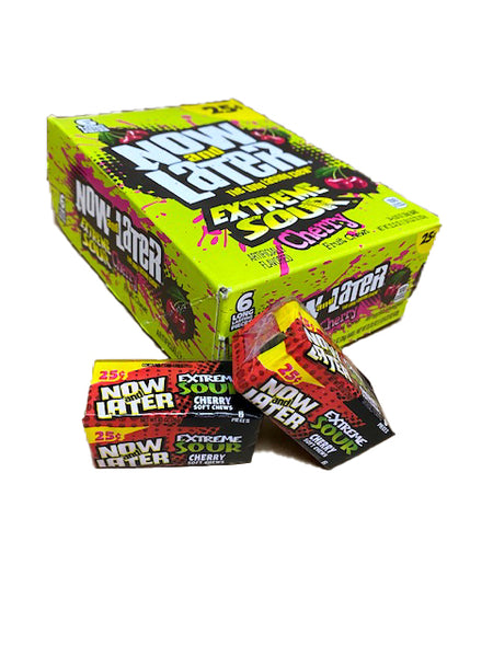 Now and Later Sour Cherry .93oz Stick Pack or 24 Count Box