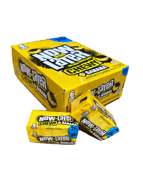 Now and Later Banana Chewy .93oz Stick Pack or 24 Count Box