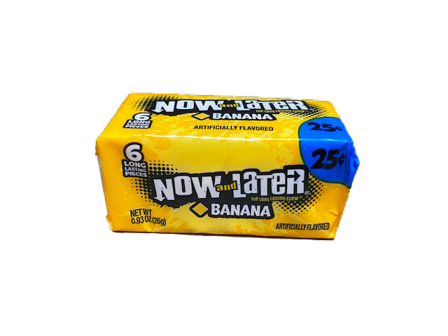 Now and Later Banana .93oz Stick Pack or 24 Count Box
