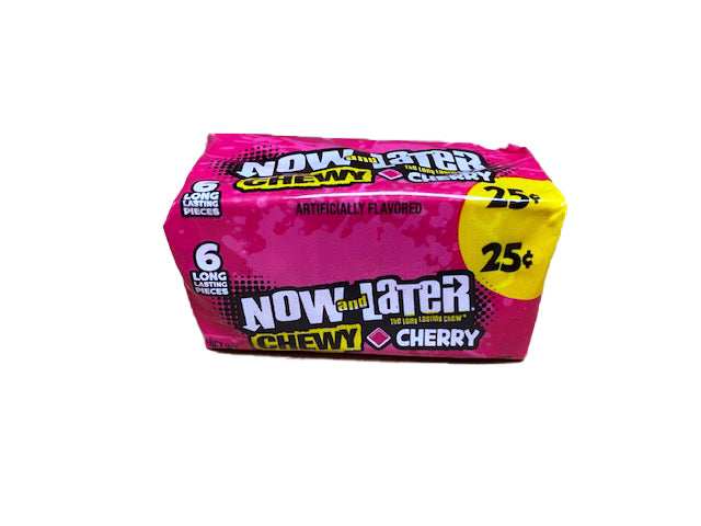 Now and Later Cherry Chewy .93oz Stick Pack or 24 Count Box