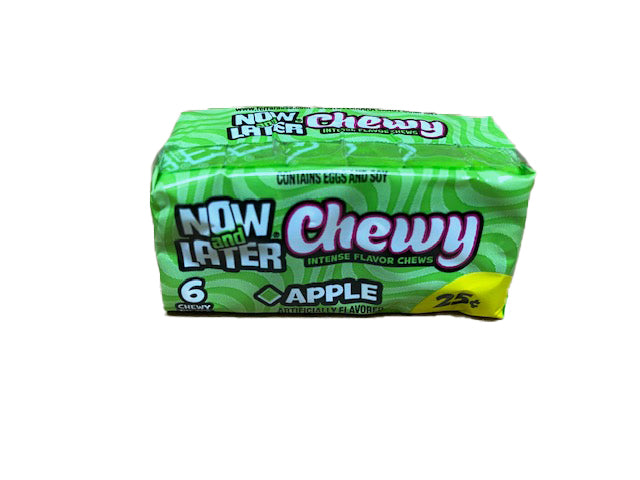 Now and Later Apple Chewy .93oz Stick Pack or 24 Count Box