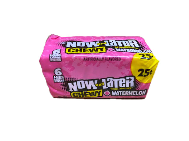 Now and Later Watermelon Chewy .93oz Stick Pack or 24 Count Box