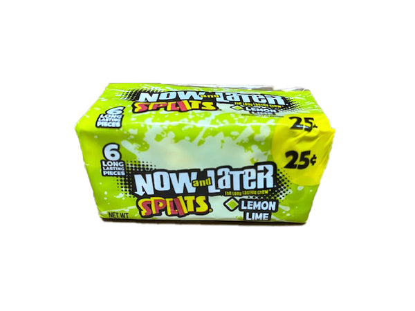 Now and Later Splits Lemon and Lime .93oz Stick Pack or 24 Count Box