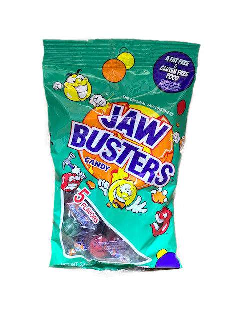 Jawbusters (Jaw Breakers) 5.5oz Peg Bag or 12 Count Box