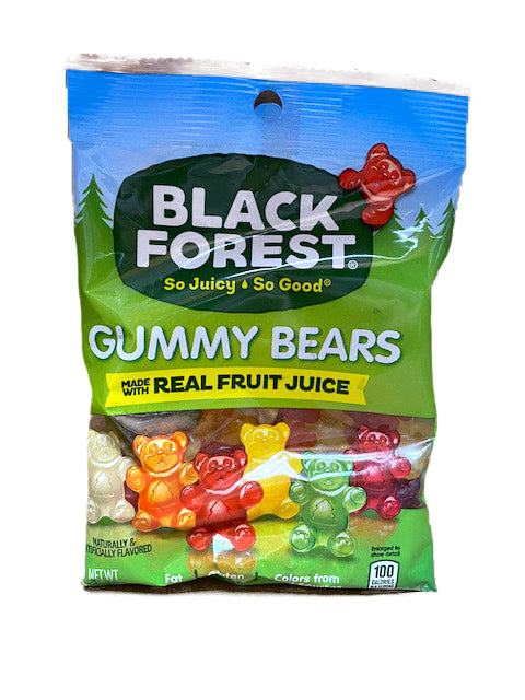 Black Forest Gummy Bears Gummi 4.5oz Bag or 12 Count