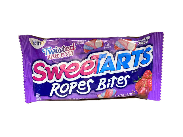 Sweetarts Ropes Bites Twisted Mixed Berry 3.5oz Pack or 12 Count