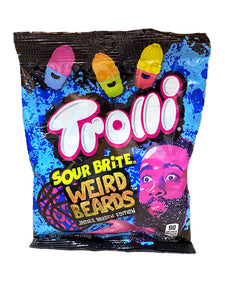 Trolli Sour Brite Weird Beards Gummi 4.5oz Bag or 12 Count