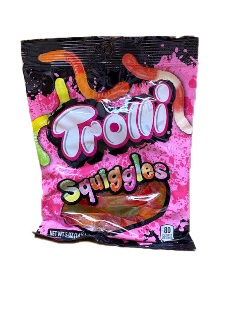 Trolli Squiggles Gummi Worms 5oz Bag or 12 Count
