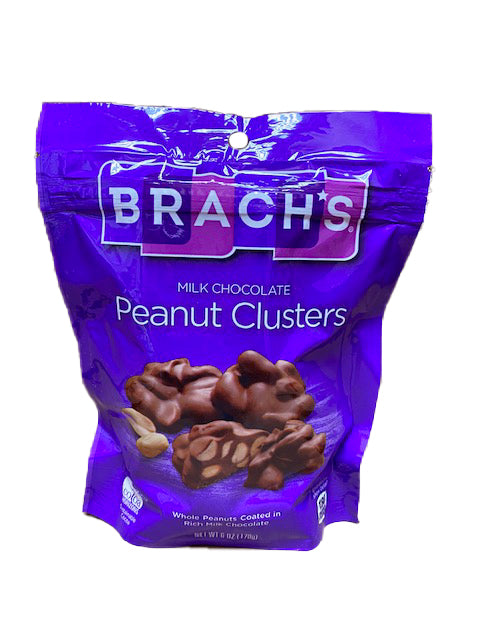 Brach's Chocolate Peanut Clusters 6oz Peg Bag or 8 Count Box