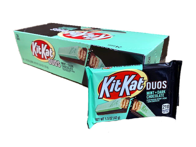 Kit Kat Duos Mint and Dark Chocolate 24 Count Box