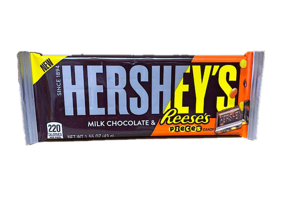 Hershey's and Reese's Milk Chocolate with Pieces Single Bar