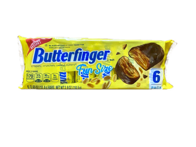 Butterfingers Snack Size 6 Bar Pack or 24 - 6 Bar Packs