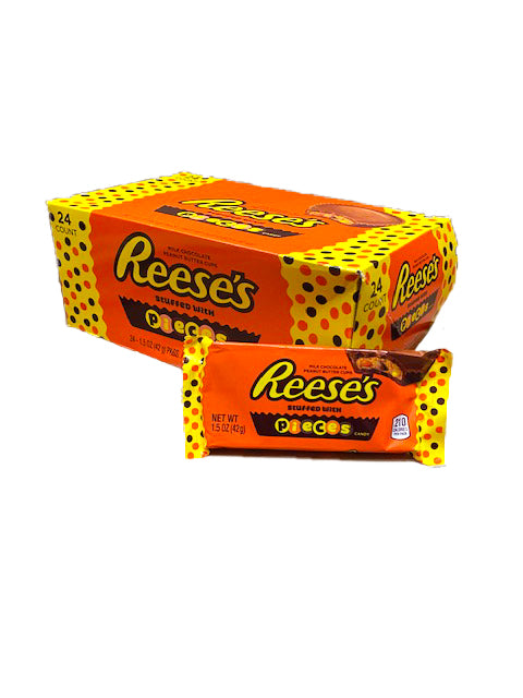 Reese's Peanut Butter Cups Filled With Reese's Pieces 1.5oz Bar or 24 Count Box