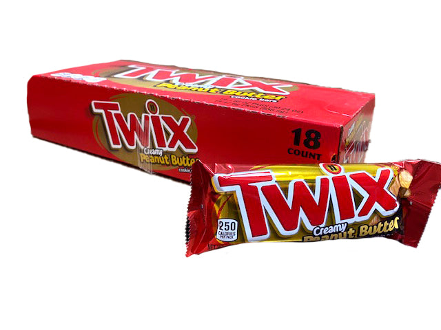Twix Peanut Butter Candy Bar 18 Count Box