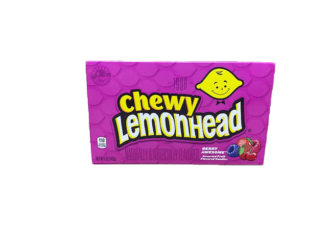 Lemonhead Chewy Berry Awesome 5oz Theater Box or 12 Count Case