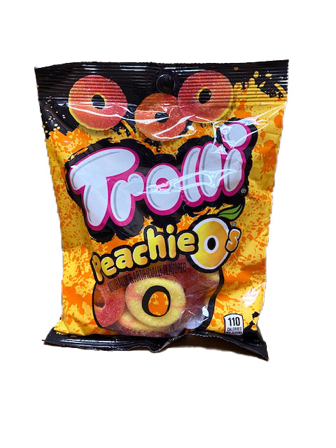 Trolli Peachie O's Gummi 4.25oz Bag or 12 Count