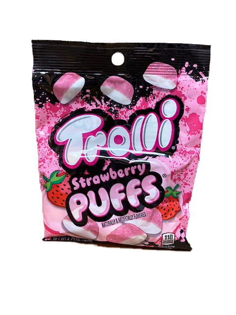 Trolli Strawberry Puffs Gummi 4.25oz Bag or 12 Count