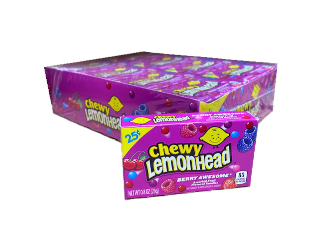 Lemonhead & Friends Chewy Awesome Berry .8oz Box or 24 Count Pack