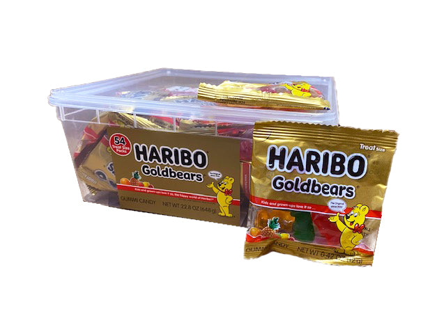 Haribo Gold Bears .4oz or 54 Count Tub