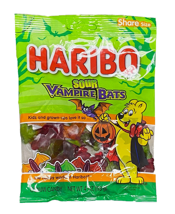 Haribo Sour Vampire Bats 4 oz Bag