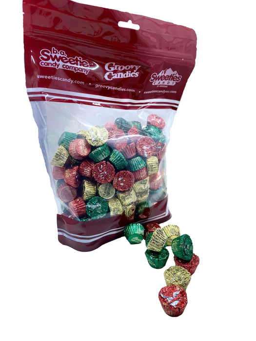 Reese's Cup Mini Foil Wrapped Red, Green, and Gold Bulk 3lb Bag