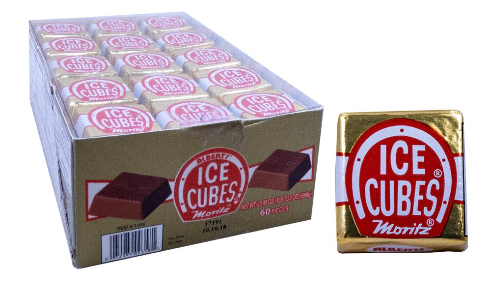 Ice Cubes Original 60 Count Box Milk Chocolate