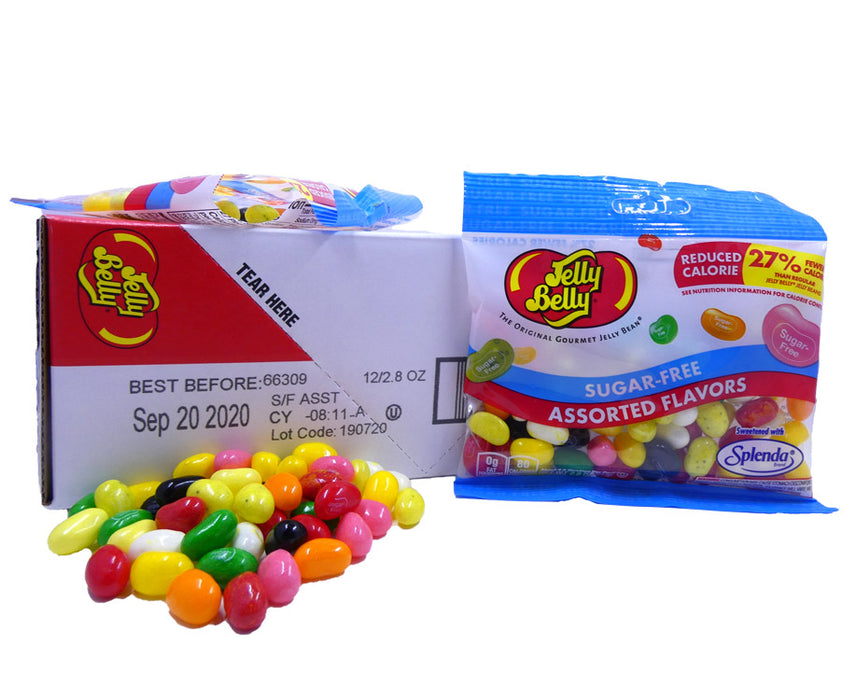 Jelly Belly Sugar Free Assorted 2.8oz Bag or 12 Count Box