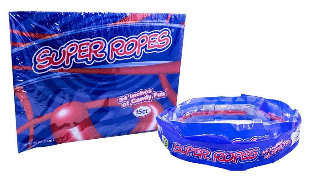 Licorice Super Rope Rollin Red 2oz Rope or 15 Count Box