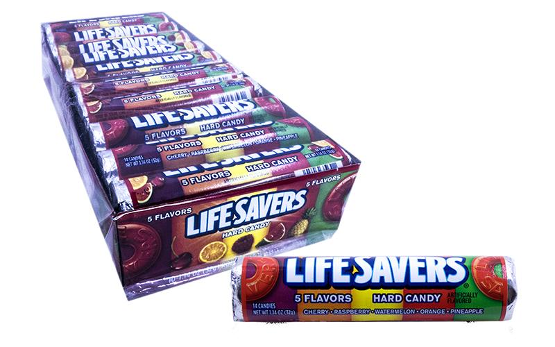 Lifesavers Roll 1.14oz Five Flavor 20 Count Box