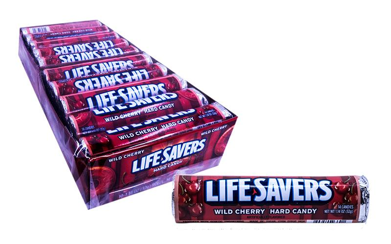 DISCONTINUED ITEM - LifeSavers Roll Wild Cherry 1.14oz Roll or 20 Count Box