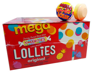 Lollies Mega 1.2oz Sucker 24 Count Box