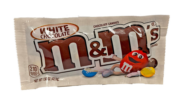M & M White Chocolate 1.5oz Bag or 24 Count Box