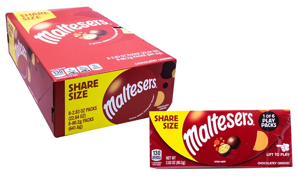 Maltesers 2.83oz Theater Box or 8 Count Case