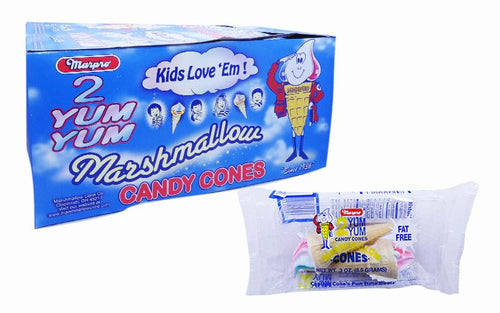 Marshmallow .3oz Ice Cream Cones 2 Pack 24 Count Box