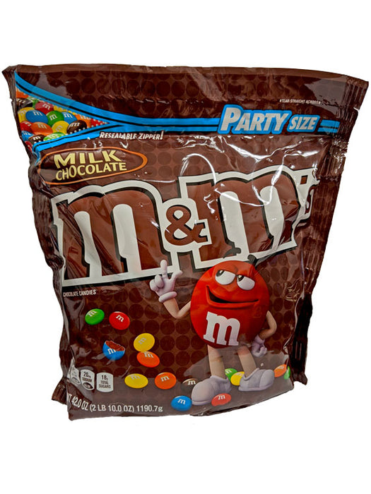 M & M Milk Chocolate Party Size 42oz Bag