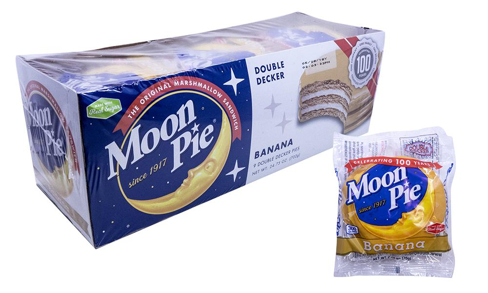 Moon Pie Double Decker Banana 2.75oz or 9 Count Box