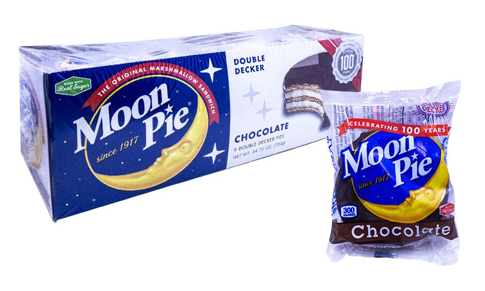 Moon Pie Double Decker Chocolate 2.75oz or 9 Count Box